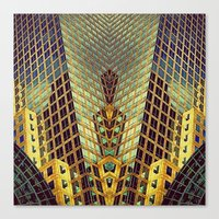 art deco Canvas Prints featuring Art Deco by Sabina Miklowitz