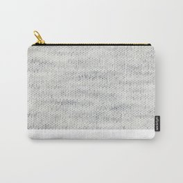 Gray Wool Carry-All Pouch