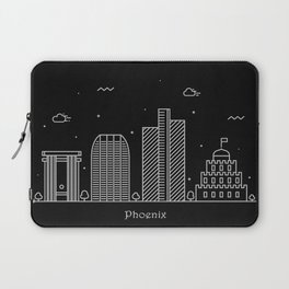 Phoenix Minimal Nightscape / Skyline Drawing Laptop Sleeve