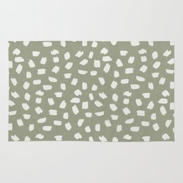 Simply Ink Splotch Lunar Gray on Green Tea Rug