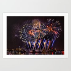 Blue Stars. Boston Pops Fireworks. Art Print