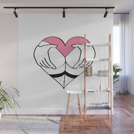 Grab me by my heart Wall Mural