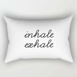 Inhale Exhale Rectangular Pillow