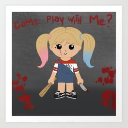 Come play with me? Art Print