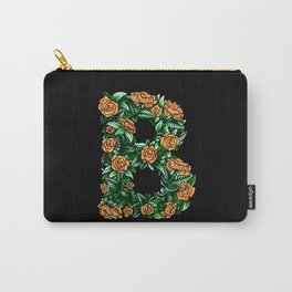 Floral Type - Letter B with Color Carry-All Pouch