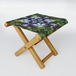 Fractal Forest Indigo Folding Stool