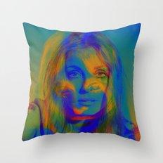 Sharon the blue mix Throw Pillow