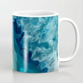 Teal Blue Agate Coffee Mug