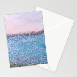 Bayside Oil Pastel 2 Stationery Cards