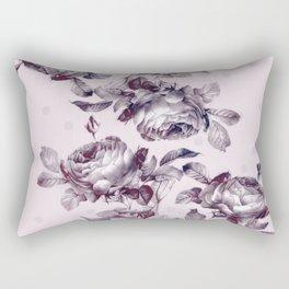 grandma's rose garden vintage purple rose pink Rectangular Pillow