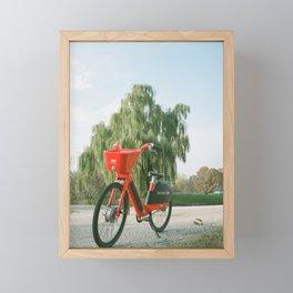 Red Bike in DC on Film Framed Mini Art Print