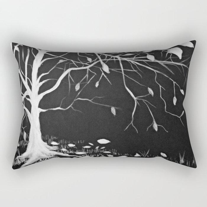 Snow Tree Rectangular Pillow