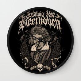 Death Metal Beethoven Wall Clock