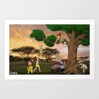 Safari Explorers Art Print