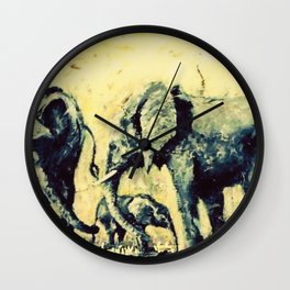 Save the Elephants          by Kay Lipton Wall Clock
