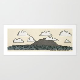 Rangitoto Island - New Zealand Art Print
