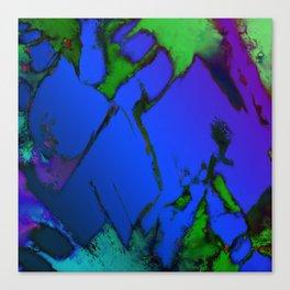 Colliding panels blue Canvas Print