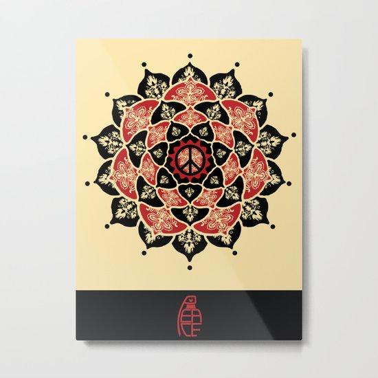 Lotus Peace Print Red Edition Metal Print