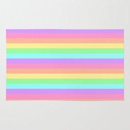 Pastel Rainbow Stripes Rug