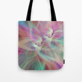 Rainbow Colored Abstract. Concept Divine Virtues Tote Bag