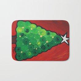 Oh Christmas Tree - Magical Christmas tree by Labor of Love artist Sharon Cummings Bath Mat