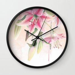 Blush lilium Wall Clock