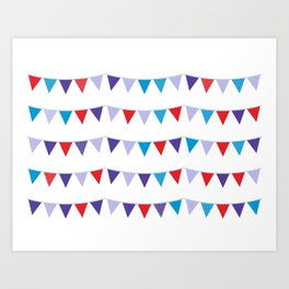 New! Party flags design products Art Print