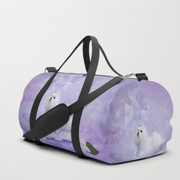 Beautiful maltese Duffle Bag