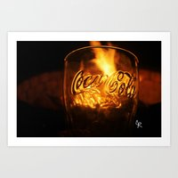 coca cola Art Prints featuring Coca Cola by CharlieRae