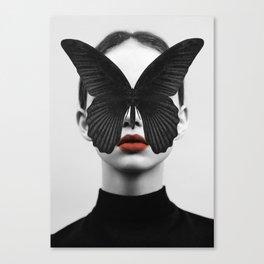 BLACK BUTTERFLY Leinwanddruck
