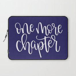 One More Chapter (blue) Laptop Sleeve