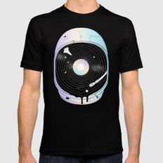 In the Presence of a Deafening Silence MEDIUM Mens Fitted Tee Black