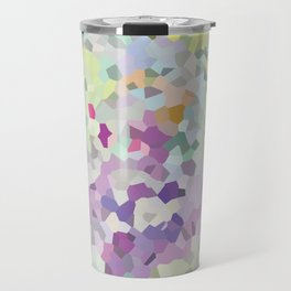 Multi mint and violet crystalized  Travel Mug