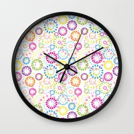 Cute Colors Wall Clock