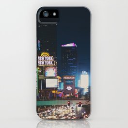 night time on the strip ... iPhone Case