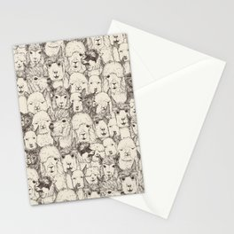 just alpacas natural Stationery Cards