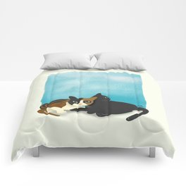 Two cats Comforters