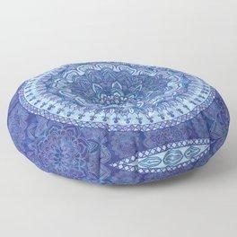 Blue Purple Mandala Floor Pillow