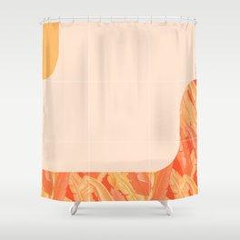 Mid-Century Tropical Orange Way #society6 #tropical Shower Curtain