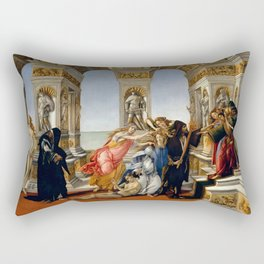 "Sandro Botticelli ""The Calumny of Apelles"" Rectangular Pillow"