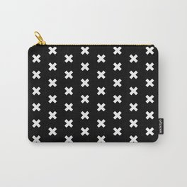 Criss Cross ((white on black)) Carry-All Pouch