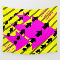 arrows Wall Tapestries featuring ARROWS by Latidra Washington