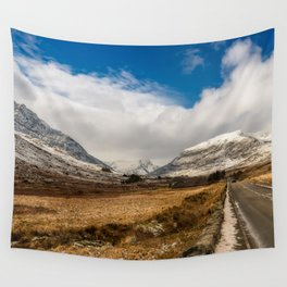 Mountain Highway Snowdonia Wall Tapestry