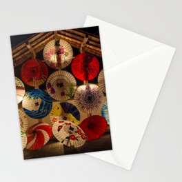 Japanese umbrellas Stationery Cards