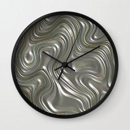 Modern abstract metal geometrical lines pattern Wall Clock