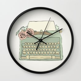 Retro typewriter Wall Clock
