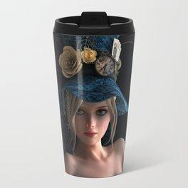 Nude Steampunk girl Travel Mug