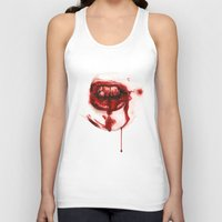 mouth Tank Tops featuring Bloody Mouth by Sam Luotonen