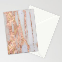 Aprillia - rose gold marble with gold flecks Stationery Cards