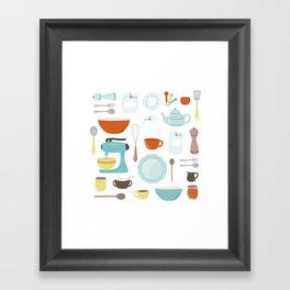My Vintage Kitchen Framed Art Print